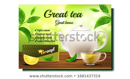 зеленый чай Creative рекламный реклама баннер вектора Сток-фото © pikepicture