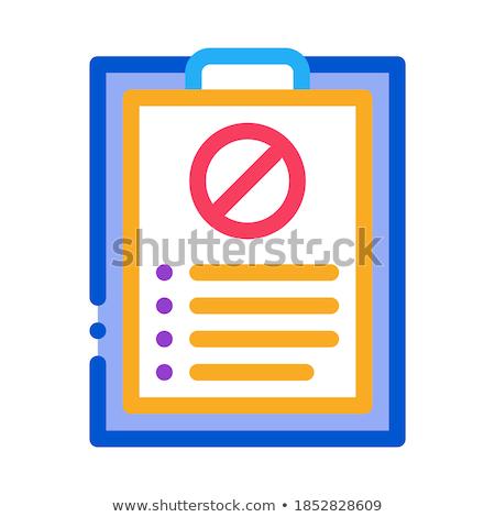 írott tiltakozás ikon vektor skicc illusztráció Stock fotó © pikepicture