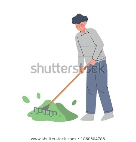 Gazdálkodás férfi férfi dolgozik farm gazda Stock fotó © robuart
