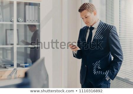 Zagęszczony mężczyzna szef strony kieszeni koncentruje Zdjęcia stock © vkstudio