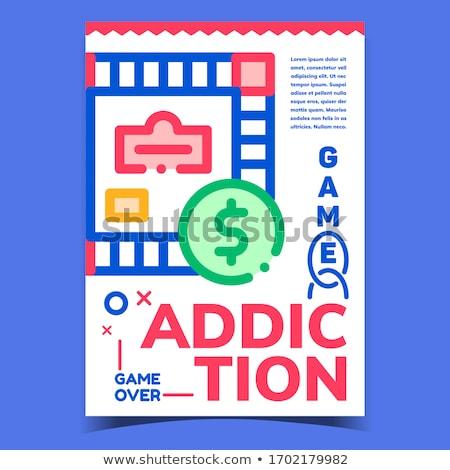Gioco dipendenza creativo pubblicità banner vettore Foto d'archivio © pikepicture