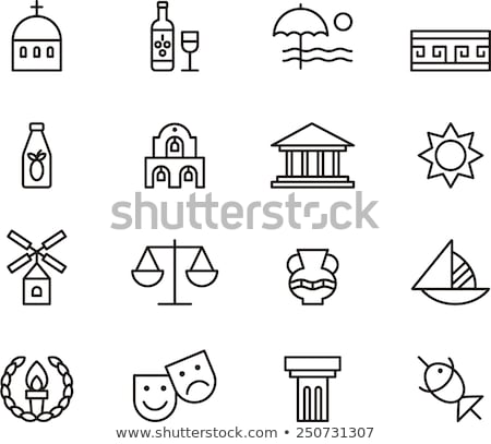 greek olive wreath icon vector outline illustration Stock photo © pikepicture