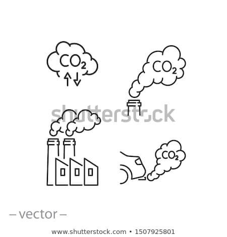 Carbón producción planta icono vector Foto stock © pikepicture