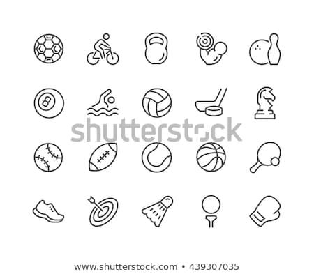 Sport felszerlés ikon vektor skicc illusztráció Stock fotó © pikepicture