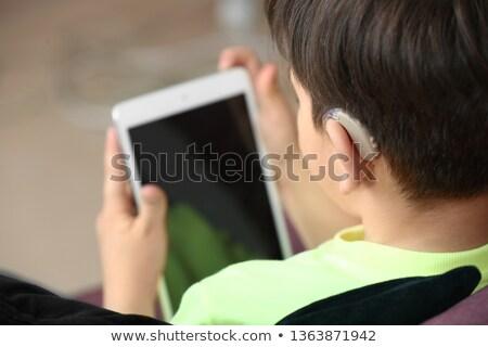 Gehoorapparaat doof jongen kantoor kinderen Stockfoto © AndreyPopov