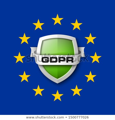 GDPR General Data Protection Regulation. Internet business guard padlock. Privacy policy protect Stock photo © Iaroslava