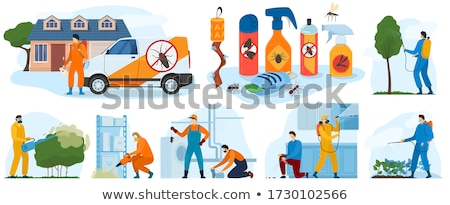 Exterminator Spraying Pesticide Insect Spray Stock photo © AndreyPopov
