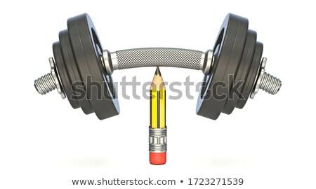 Nehéz súlyzó felső éles ceruza 3D Stock fotó © djmilic