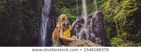 Syn wodospady bali wyspa Indonezja podróży Zdjęcia stock © galitskaya
