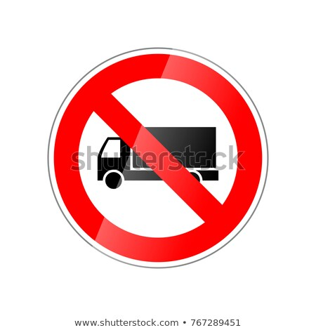 Caminhões não permitido proibido vermelho Foto stock © evgeny89