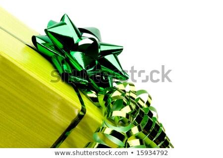 Parlak beyaz hediye kutusu bürokrasi yay yalıtılmış Stok fotoğraf © evgeny89