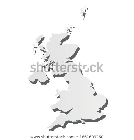 Ireland country map, simple black silhouette on gray Stock photo © evgeny89