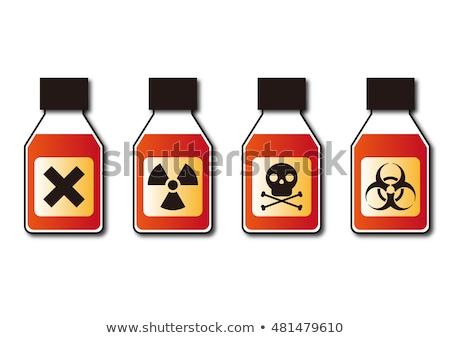 Gift Flasche Gefahr Gefahr Strahlung Zeichen Stock foto © yupiramos