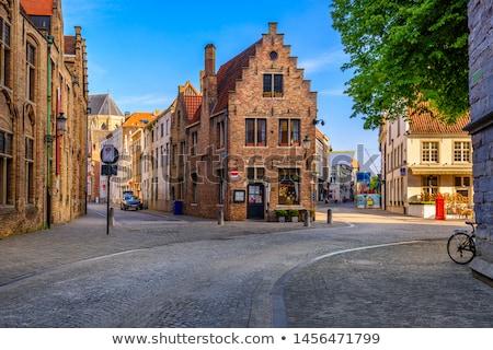 Avrupa kasaba Belçika tipik Avrupa Cityscape Stok fotoğraf © dmitry_rukhlenko