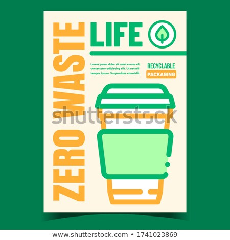 Zero Waste Life Promotional Flyer Banner Vector Stock photo © pikepicture