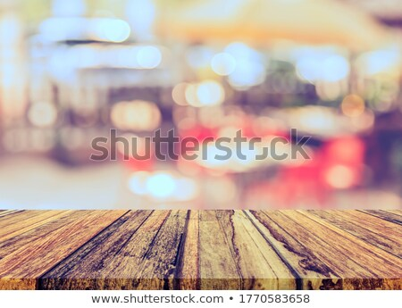 Outdoor Restaurant, Table with Umbrella and Chairs Stock photo © robuart