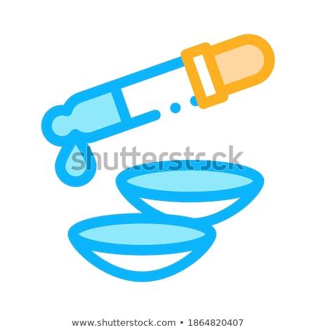 Linse Pipette Flüssigkeit Symbol Vektor Gliederung Stock foto © pikepicture