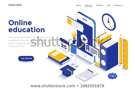 Móvel aprendizagem abstrato aplicação portátil dispositivo Foto stock © RAStudio
