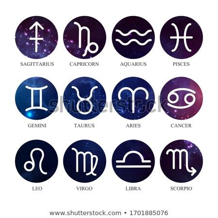 Сток-фото: Aquarius Horoscope And Astrology Zodiac Sign