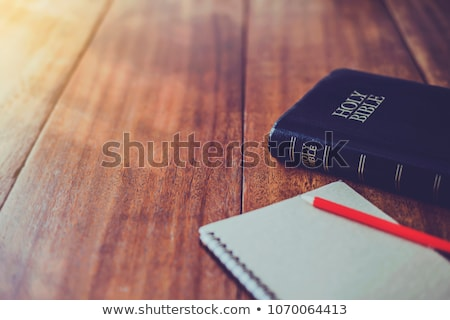 Studying the Bible concepts of the faith to the religion stock photo © johnkwan