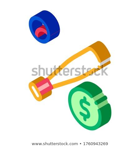 Baseball ütő labda fogadás izometrikus ikon hazárdjáték Stock fotó © pikepicture