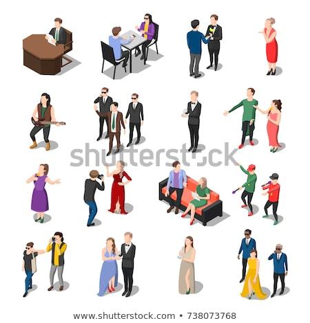 Speaker Human Talent isometric icon vector illustration Stock photo © pikepicture