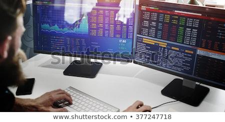 Biznesmen pośrednik handlowy komputera biuro kobieta Zdjęcia stock © AndreyPopov