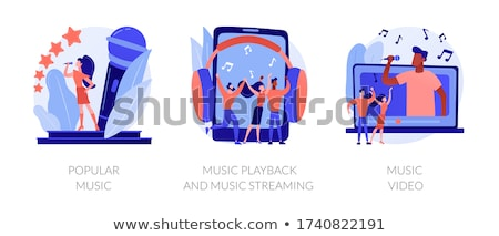 Muziek video abstract officieel internet tv Stockfoto © RAStudio