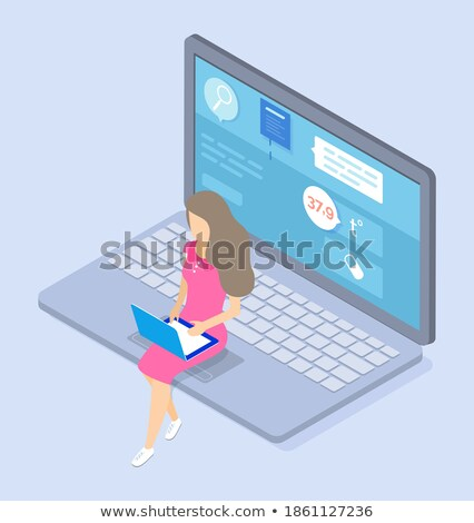 Online konzultáció orvos távolság internet betegség Stock fotó © robuart