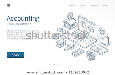Impuesto sitio web icono vector signo Foto stock © pikepicture