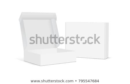 Kâğıt kutu açmak beyaz karton dört Stok fotoğraf © jordygraph