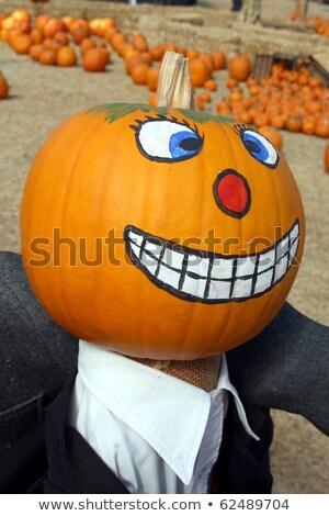 Citrouille halloween peint visage mal Photo stock © farres