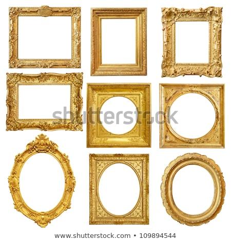 sarı · resim · çerçevesi · yalıtılmış · beyaz · ahşap - stok fotoğraf © adamr