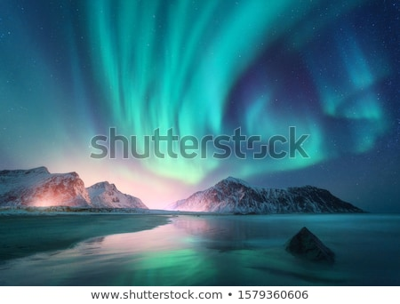 ノルウェー · ビーチ · 絵のように美しい · 風景 · 自然 · 山 - ストックフォト © remik44992