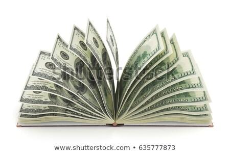 Para kitaplar dolar yalıtılmış beyaz arka plan Stok fotoğraf © stokato