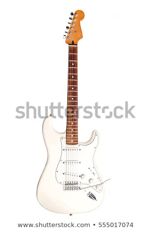 blanco · guitarra · aislado · guitarra · eléctrica · espacio · de · la · copia · rock - foto stock © mkm3