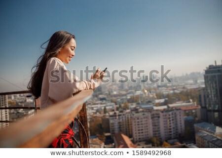 Kız güneş portre açık havada Stok fotoğraf © pekour
