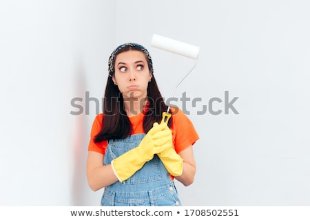 a bored female painter stock photo © photography33