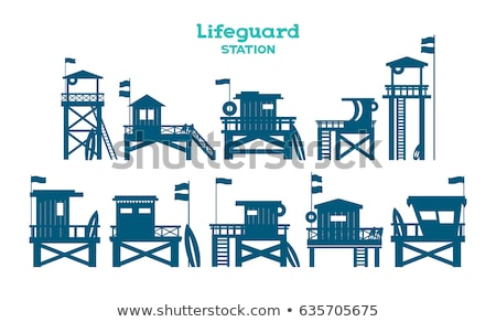 ライフガード 駅 砂浜 ビーチ 水 風景 ストックフォト © piedmontphoto