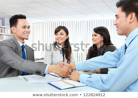 Hands unite with eachother as friends greeting Stock photo © vetdoctor