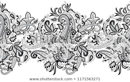 Kına sınır tasarımlar Hint sanat yaprak Stok fotoğraf © krishnasomya