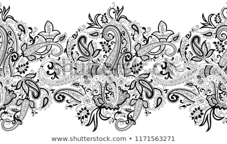 Henna Grenze Designs indian Kunst Blatt Stock foto © krishnasomya