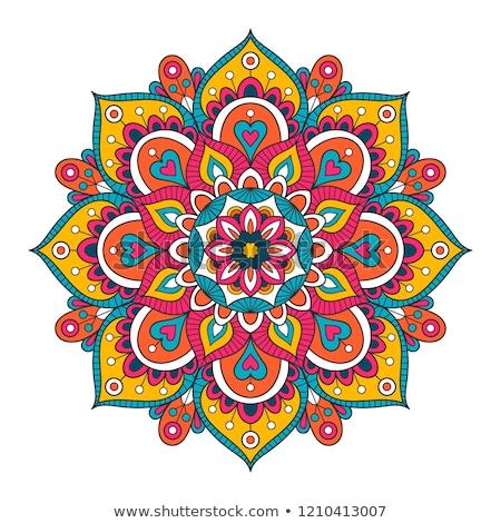 カラフル · ヘナ · 曼陀羅 · インド · 芸術 · デザイン - ストックフォト © krishnasomya