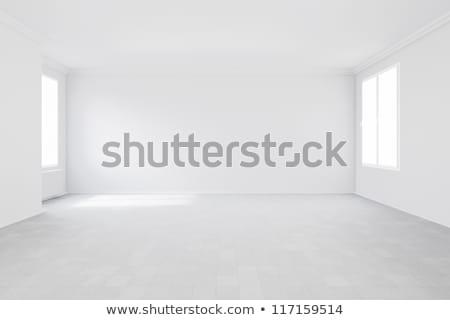 Fűtés radiátor üres szoba elektromosság faszék zöld Stock fotó © zakaz