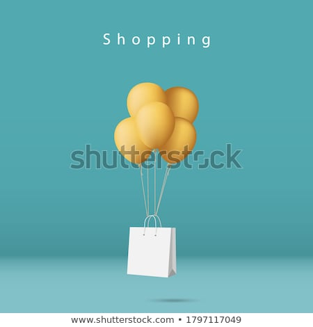 Shopping vecteur sur signe Photo stock © oblachko
