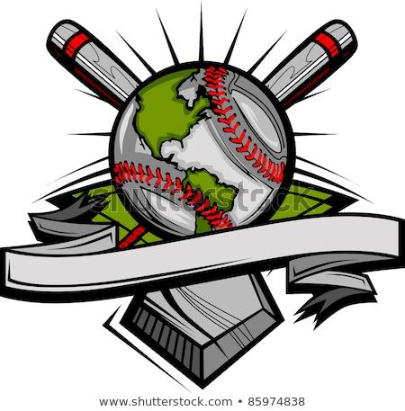 Globális baseball vektor kép sablon földgömb Stock fotó © chromaco