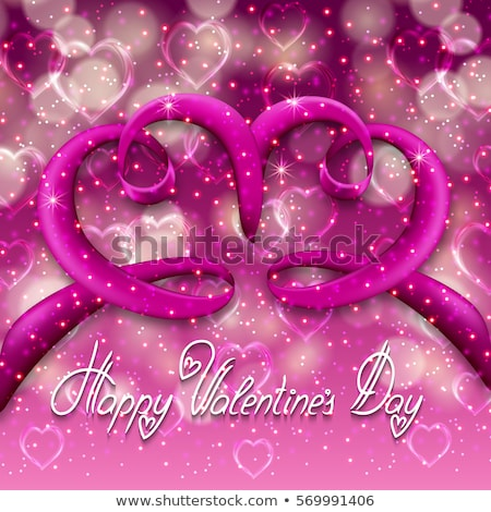 Valentine's Day Hearts card template. EPS 8 Stock photo © beholdereye