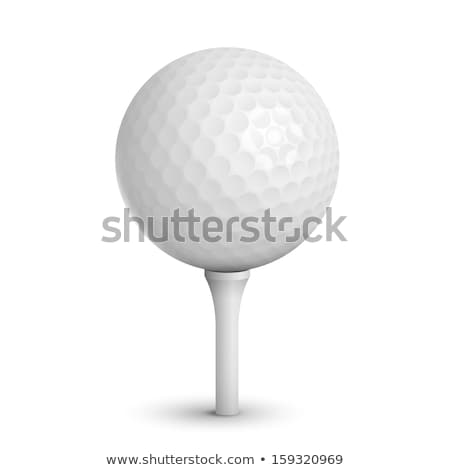 Golf ball on a tee isolated on white Stock photo © ozaiachin
