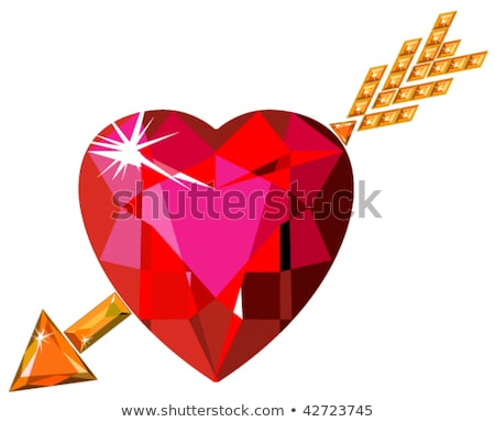 Heart with Cupid's arrow hitting through Stock photo © bbbar