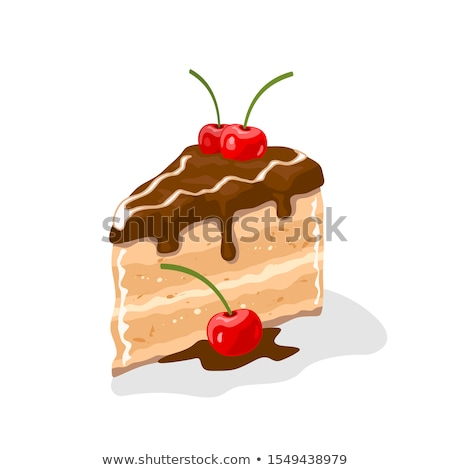 Shortcakes with chocolate glaze isolated on white background Stock photo © zhekos